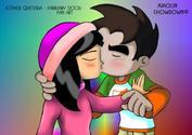 Raymundo and Kimiko Kiss2