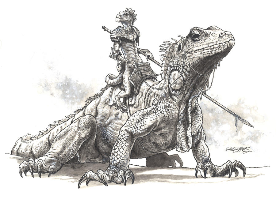 Lizard Rider by ChrisQuilliams