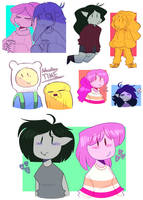 adventure time doodles by red-explo