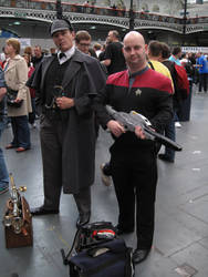Sherlock Holmes and a Starfleet Officer by ZeroKing2015