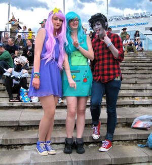 Lumpy Space Princess, BMO and Marshall Lee