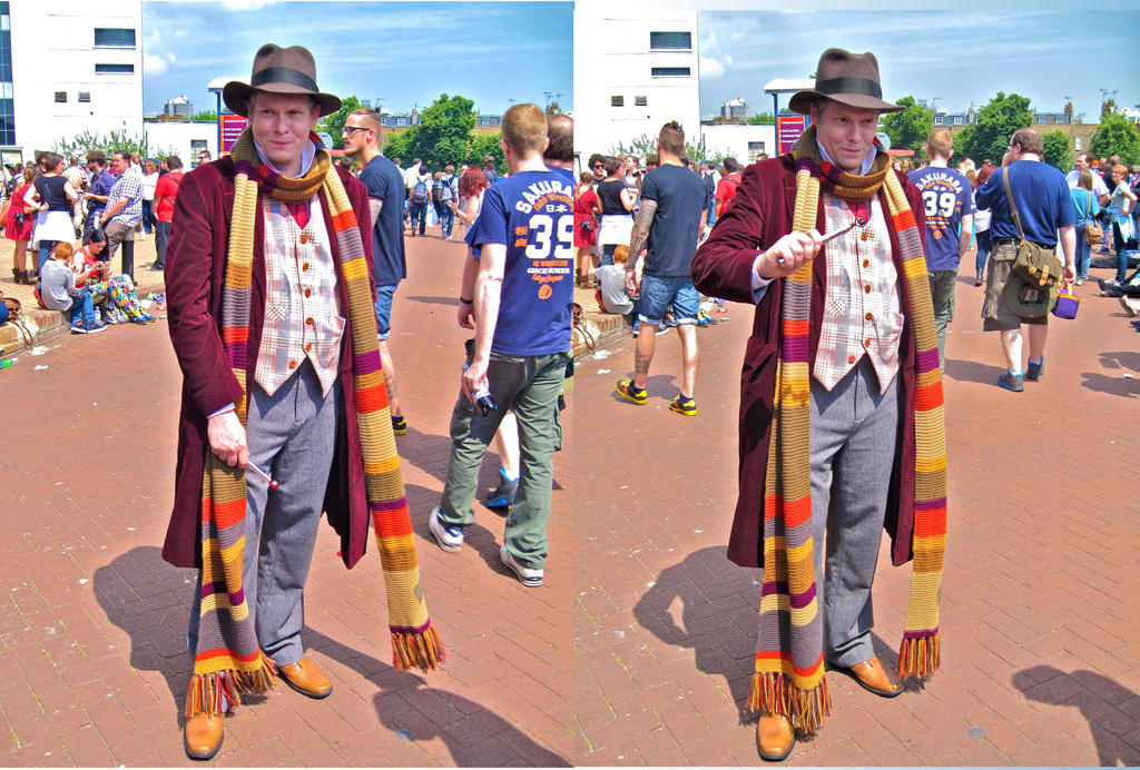 The Fourth Doctor with his sonic screwdriver by ZeroKing2015