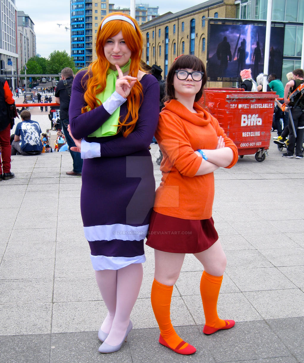 Daphne and Velma from Scooby Doo by ZeroKing2015 on DeviantArt