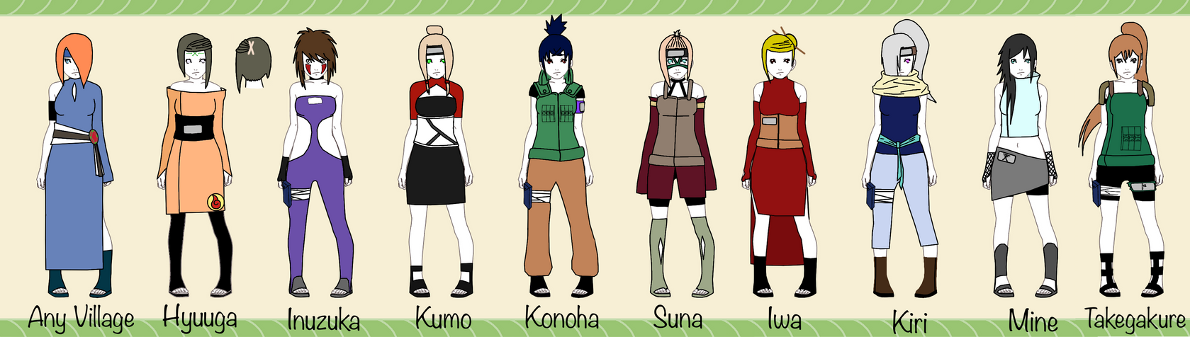 Naruto girl adopts batch 1 open (Lowered price) by EmpressCookie