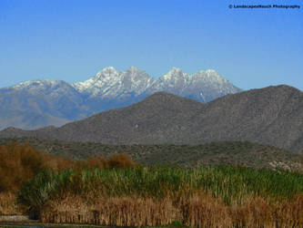 Snow on Four peaks by LandscapesNSuchPhoto