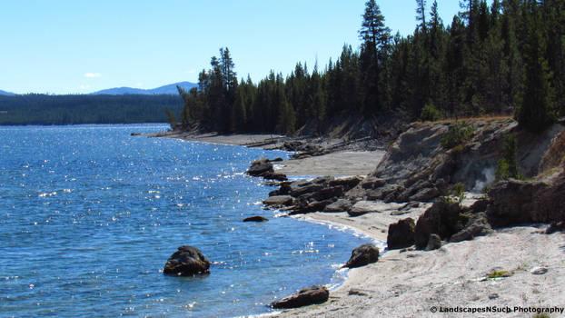 Yellowstone lake beach