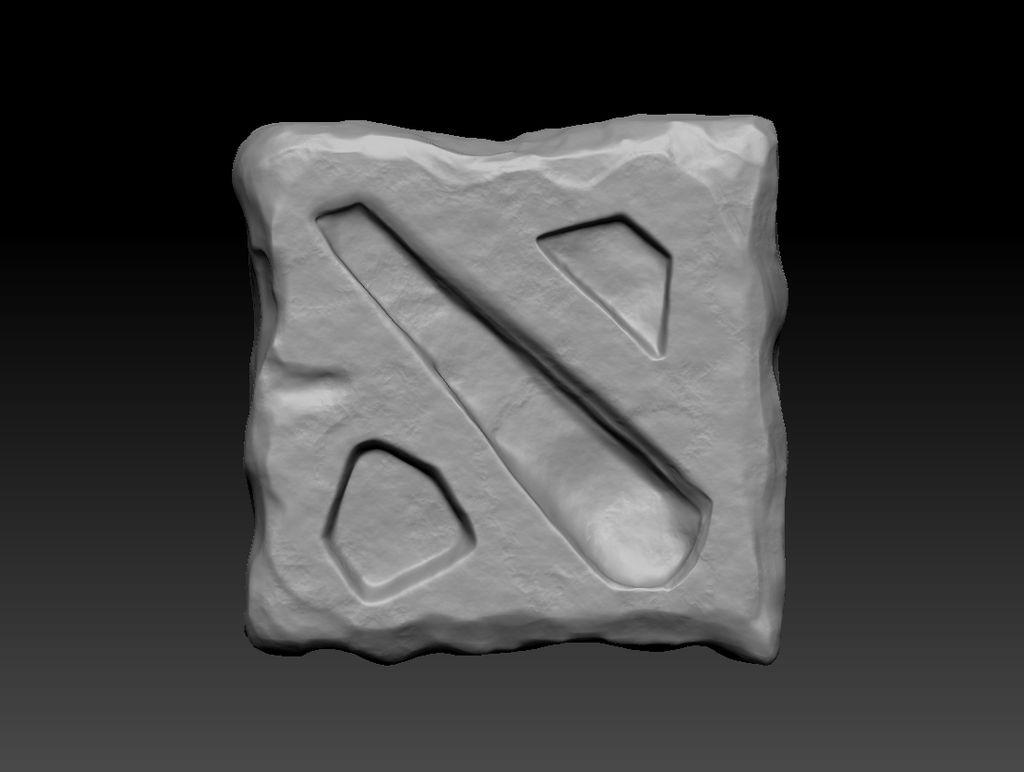 ZBrush Sculpting Practice - Dota 2 Logo by Alphawolf154 on