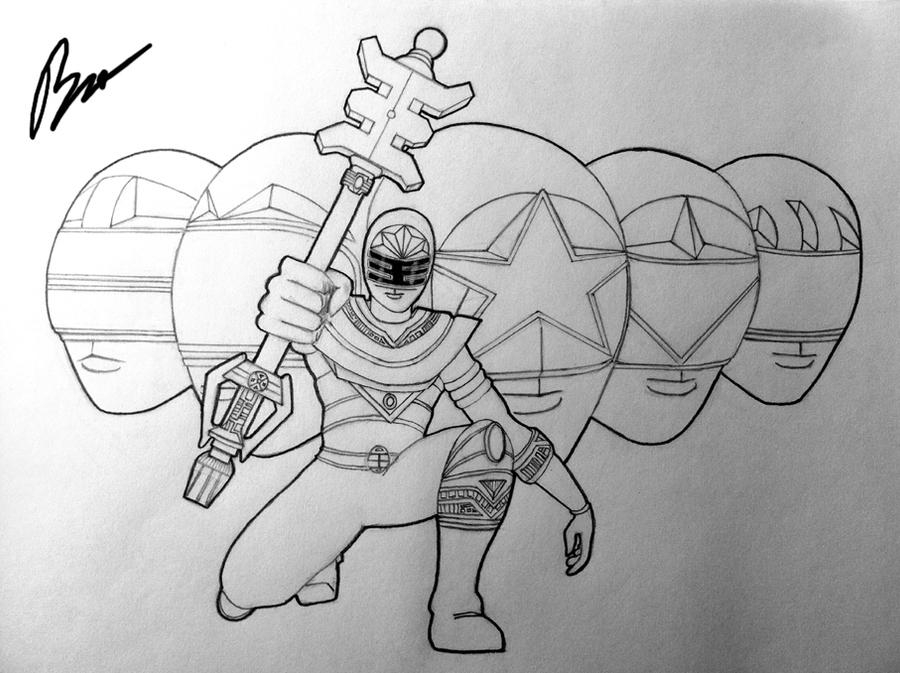 Power Rangers Zeo drawing by BL301 on DeviantArt