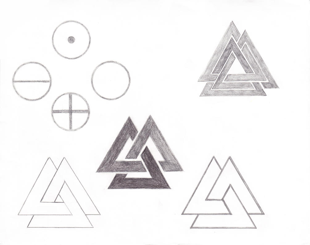 valknut and 4 elements tattoo sketches by dace x on deviantart. Black Bedroom Furniture Sets. Home Design Ideas