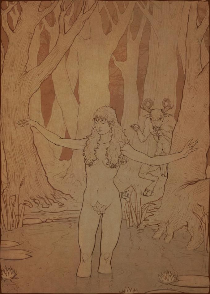 Eve and the evil goat. by Tomekkaz
