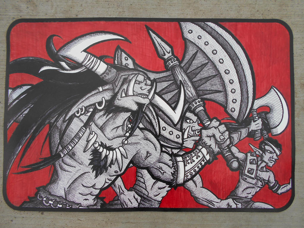 Orc Mouse Pad by Jagarnot