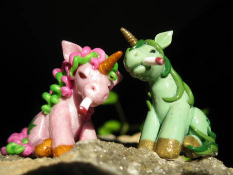 Stoney the Pony and Polly Pot Pony (front view)