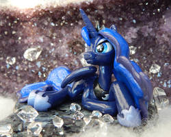 Lounging Luna (front view) by DeadHeartMare