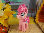 Filly Pinkie Pie (left, front view)