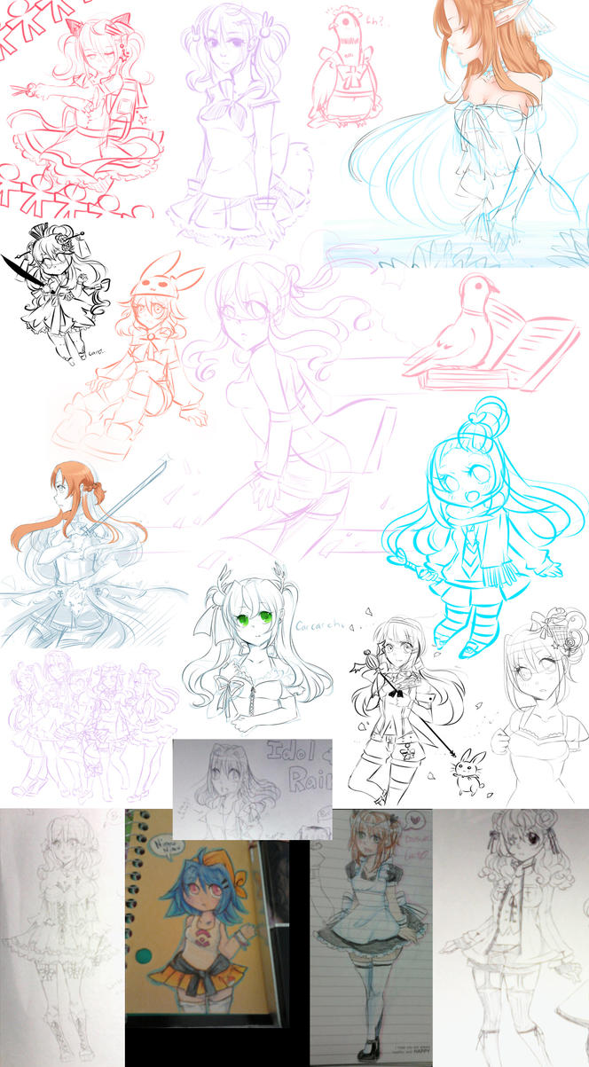 tradigital sketch dump by carcarchu