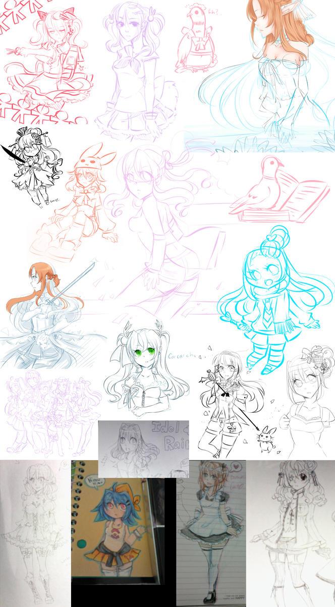 tradigital sketch dump by carcarchu