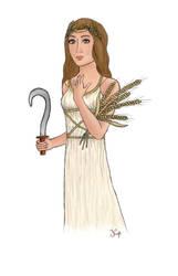 Goddess Demeter // first tablet try