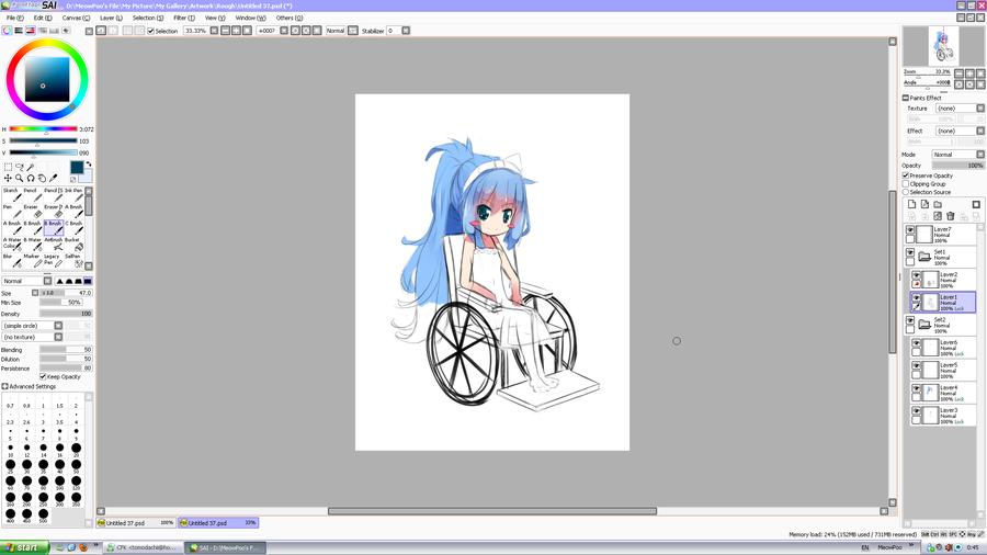 Wheel Chair Girl by MaewPoo