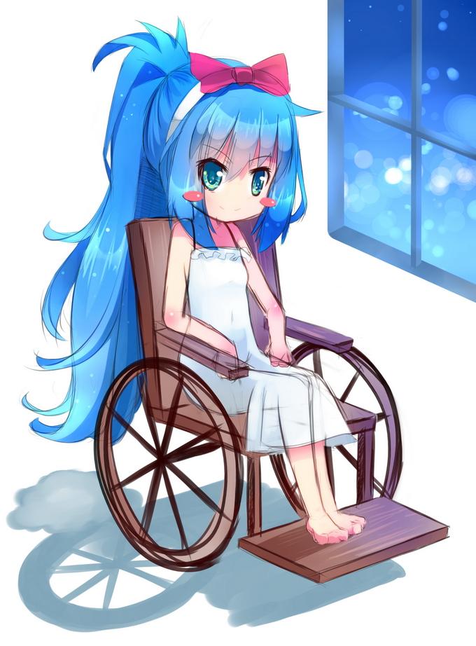 Whel Chair Girl by MaewPoo