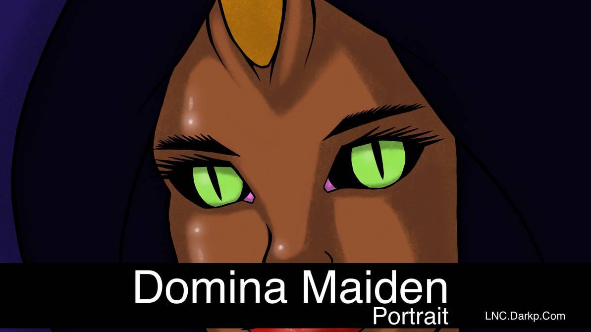 Domina Maiden Portrait Banner