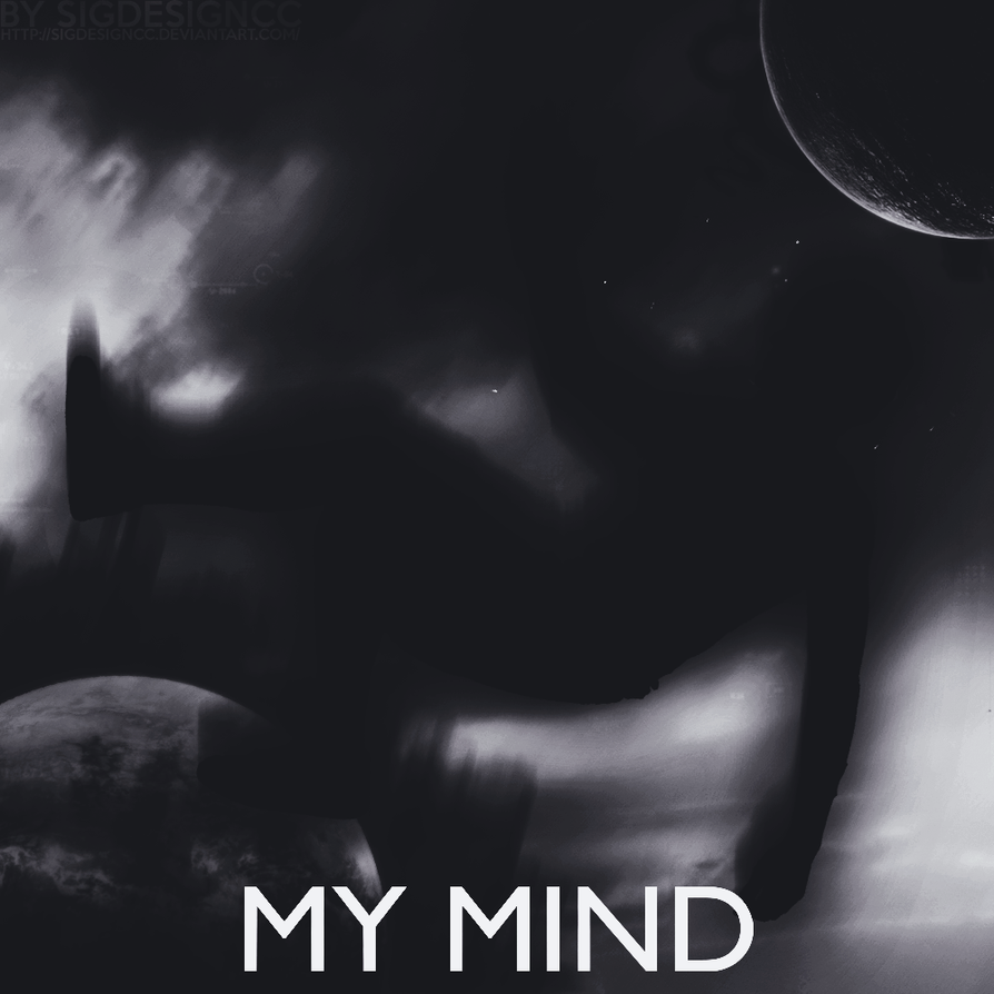 My Mind 1000x1000 Black and White by SiGDesignCC