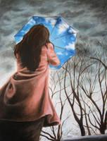 The Blue Umbrella by ki-se-ki