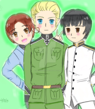 Axis Trio by Maskedgirl24