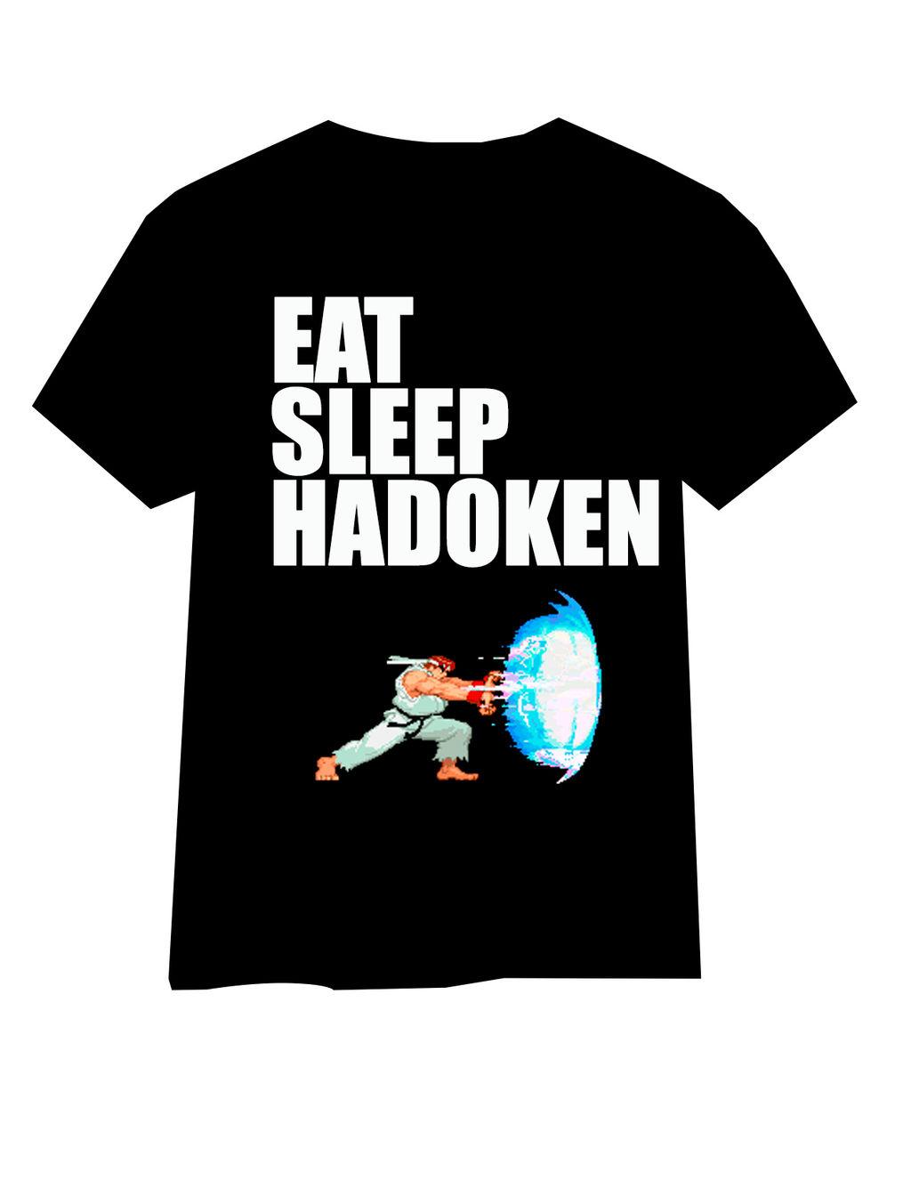Eat Sleep Hadoken/Hadouken - T Shirt design by oo2k15 on