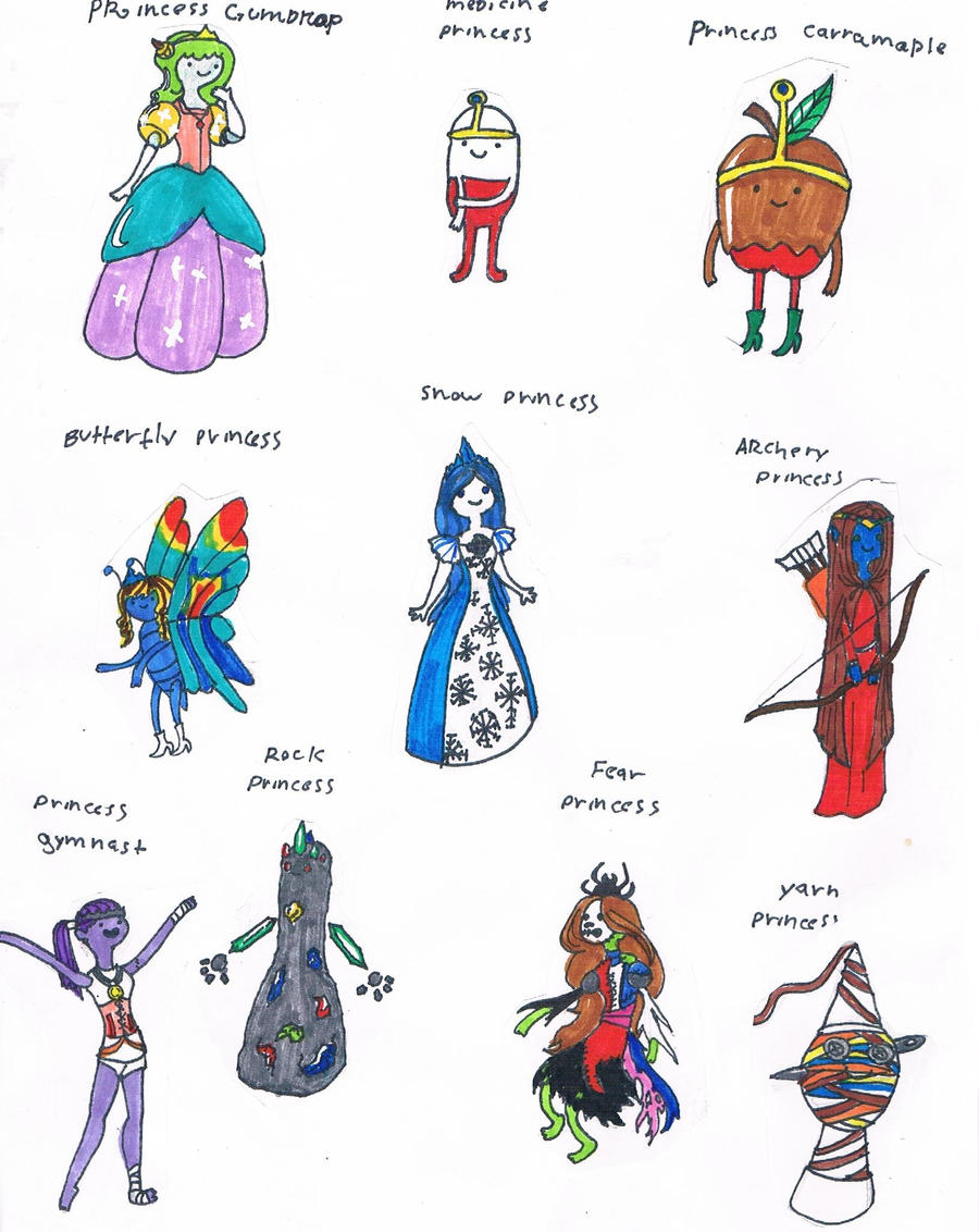 my adventure time princess ideas by monkeydinosaur on DeviantArt