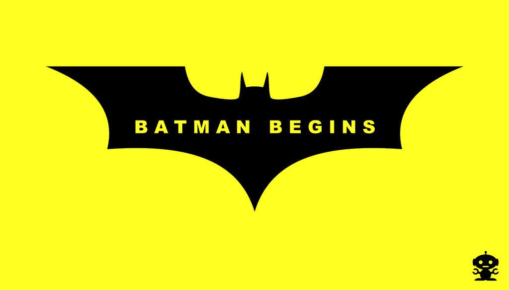2005 Batman Begins Movie Title Logo by HappyBirthdayRoboto