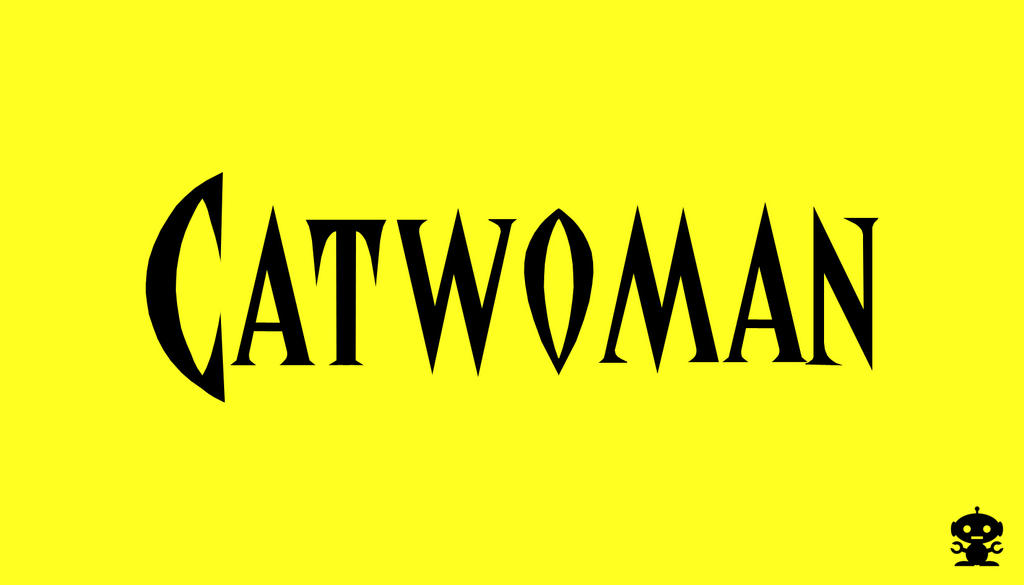 1993 Catwoman Comic Title Logo By TheDorkKnightReturns