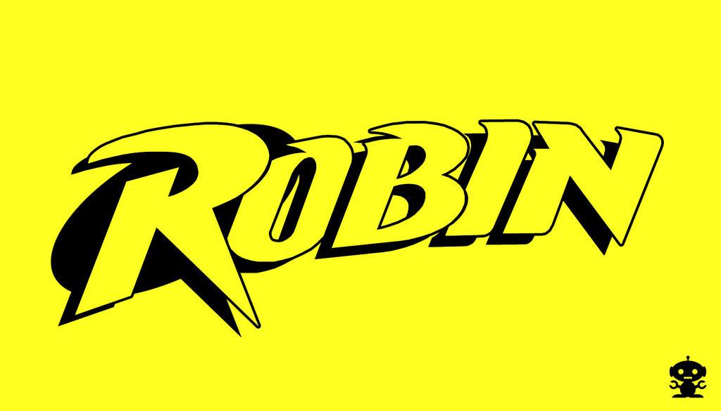 Robin Superhero Logo 1993 Robin Comic Title Logo by