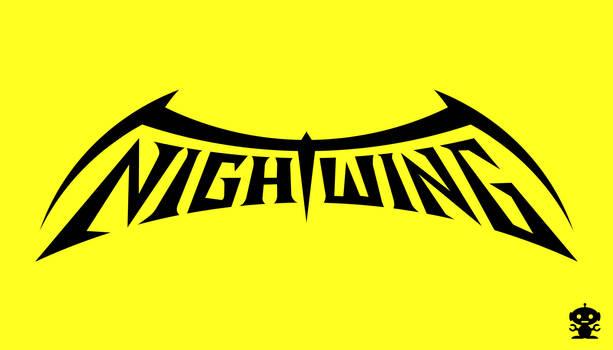 1996 Nightwing Comic Title Logo