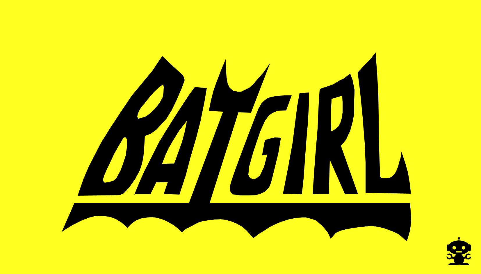 1967 Batgirl on Batman TV Show Title Logo