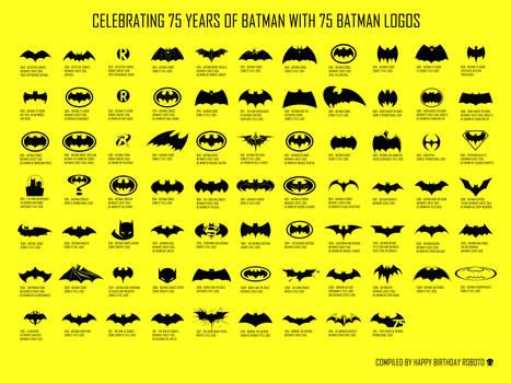 75 Years of Batman Logos