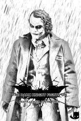 Heath Ledger as  the Joker by TheDorkKnightReturns
