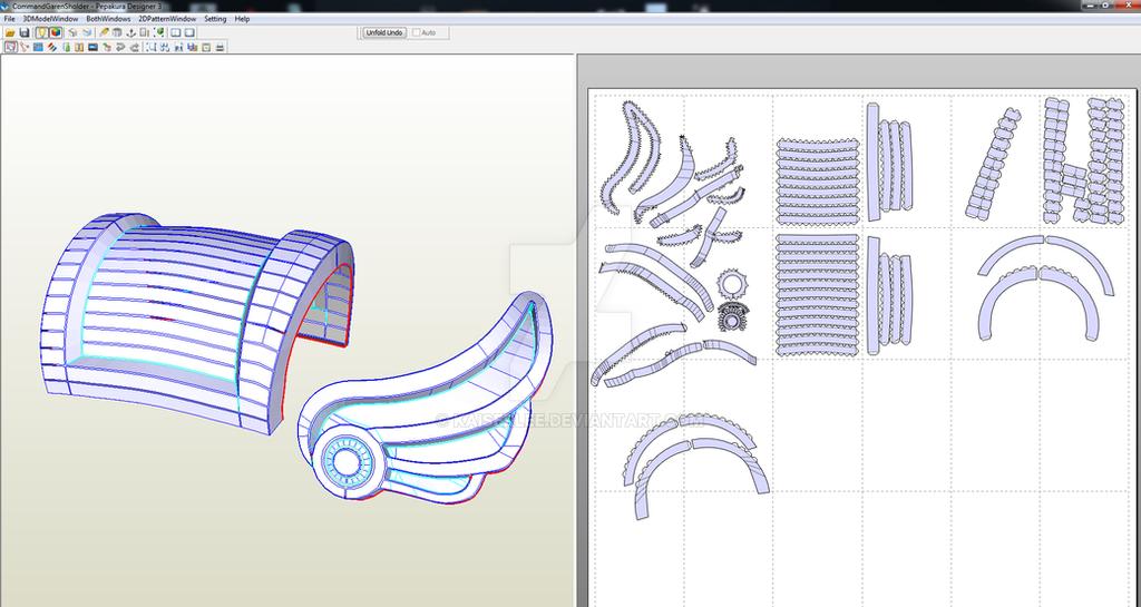 Garen Papercraft Shoulder Armour by KaiserLee