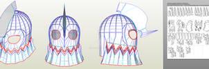 Undyne Helmet - Undertale Papercraft