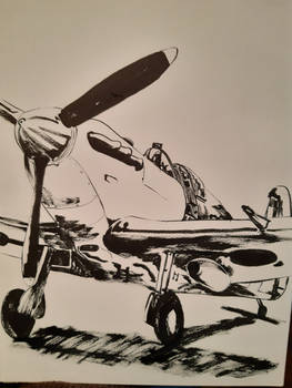 Inktober: 29th October - Spitfire