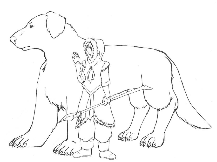 Naga and Korra by WickedRyu
