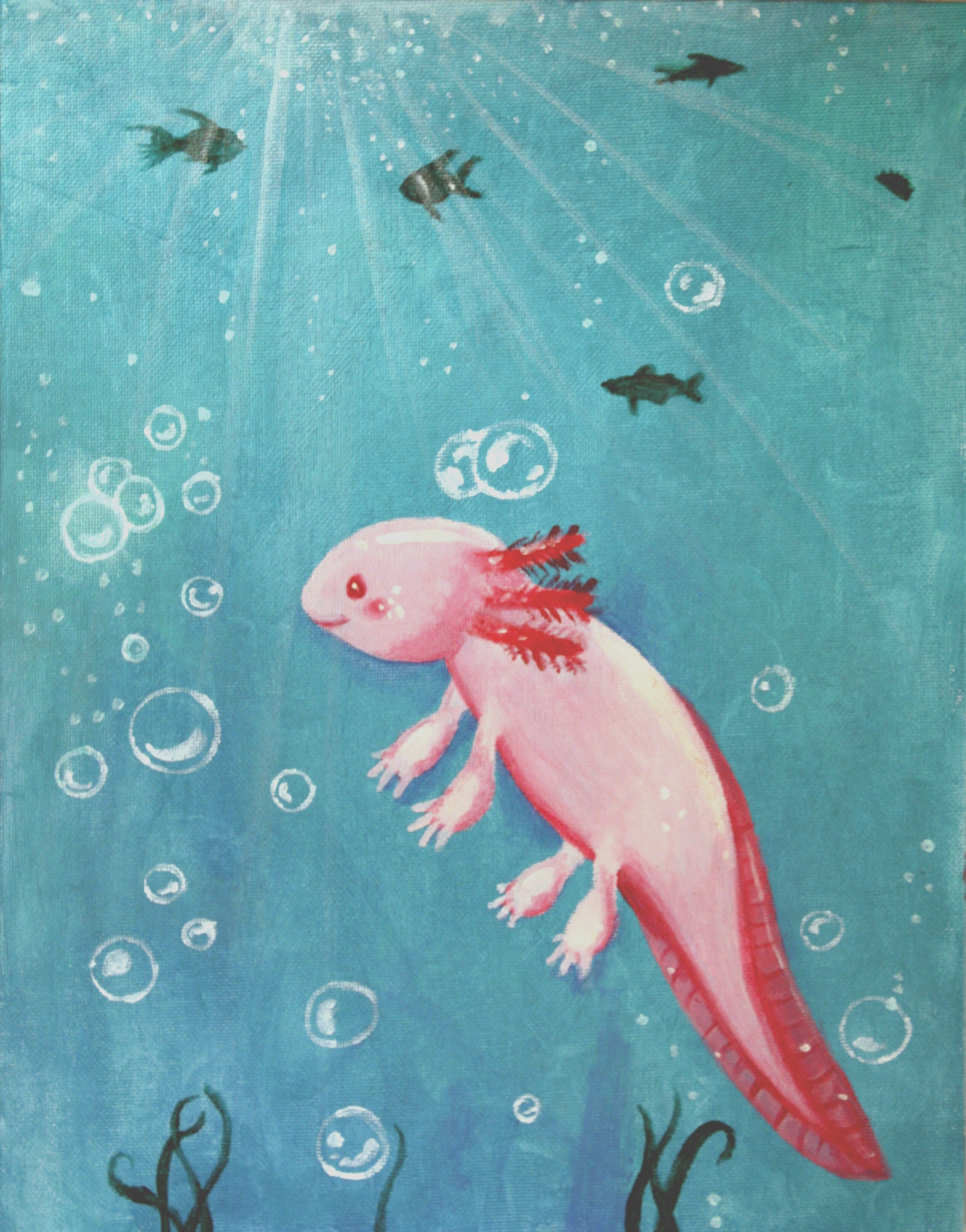 Little Axolotl by FourBadQuans
