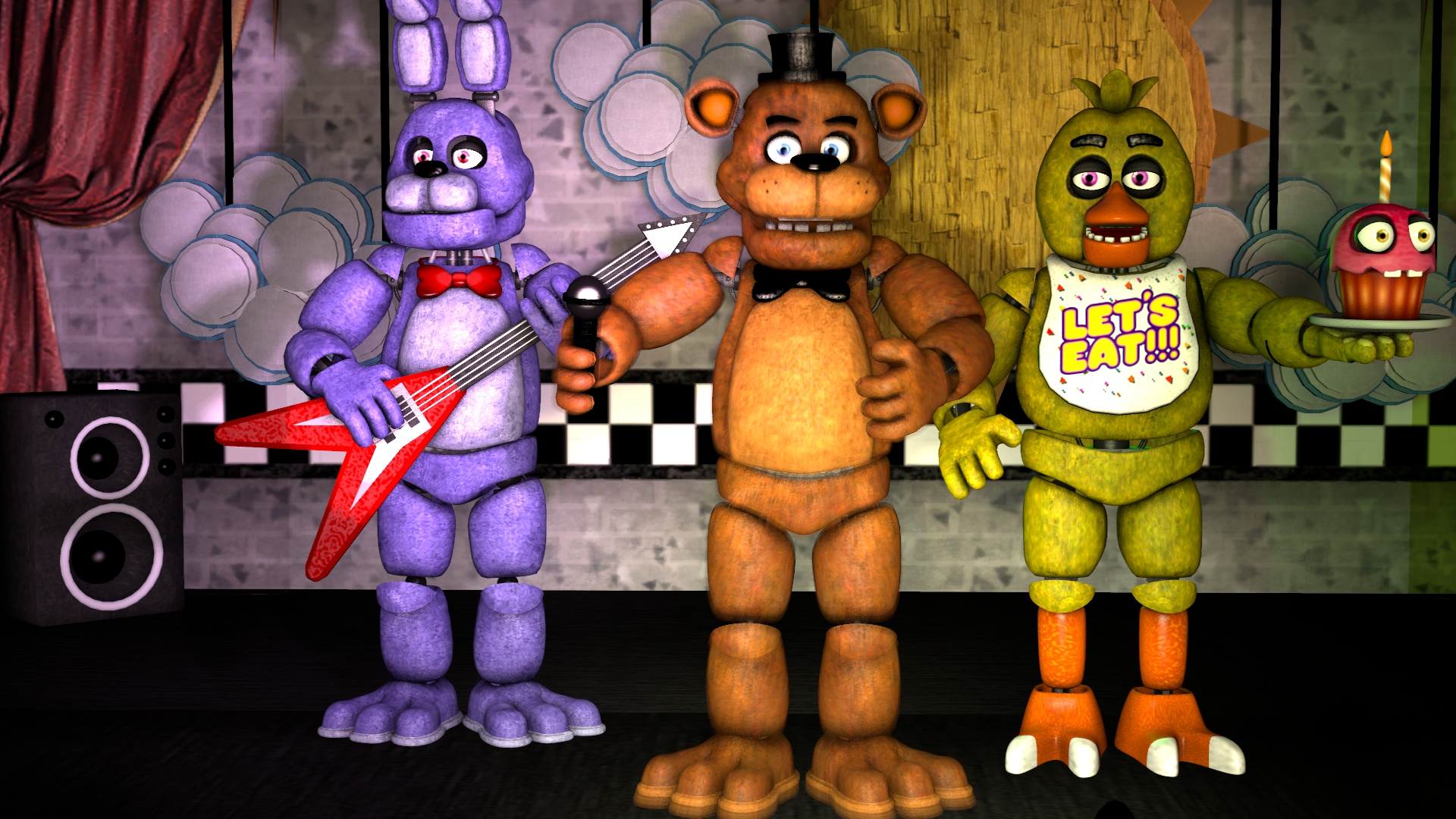 Five Nights At Freddy S Celebrate Poster By Dibujos Para Colorear