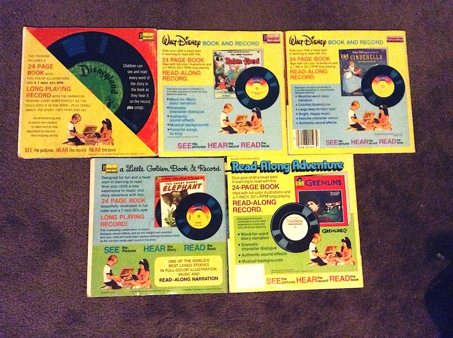 Disney Read Along Book And Record Back Covers By Wilee2005