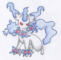 [Fakemon] Hexeon [Ghost-Type Eeveelution] by BlackYinWhiteYang
