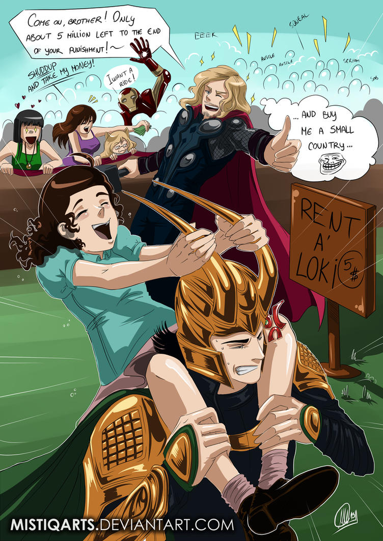 Avengers: Lokis punishment by Mistiqarts