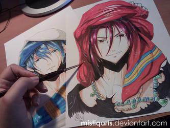 Free! : Iwatobi Swim Club Rin Copic drawing by Mistiqarts