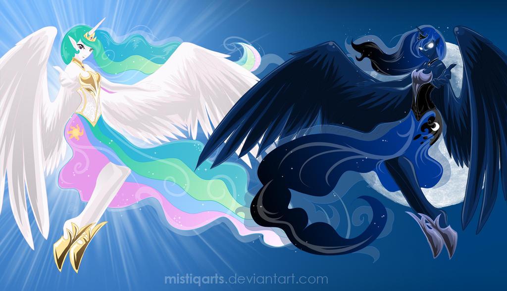 Celestial sisters by Mistiqarts