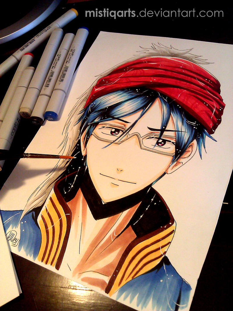 Free! : Iwatobi Swim Club Rei Copic drawing by Mistiqarts