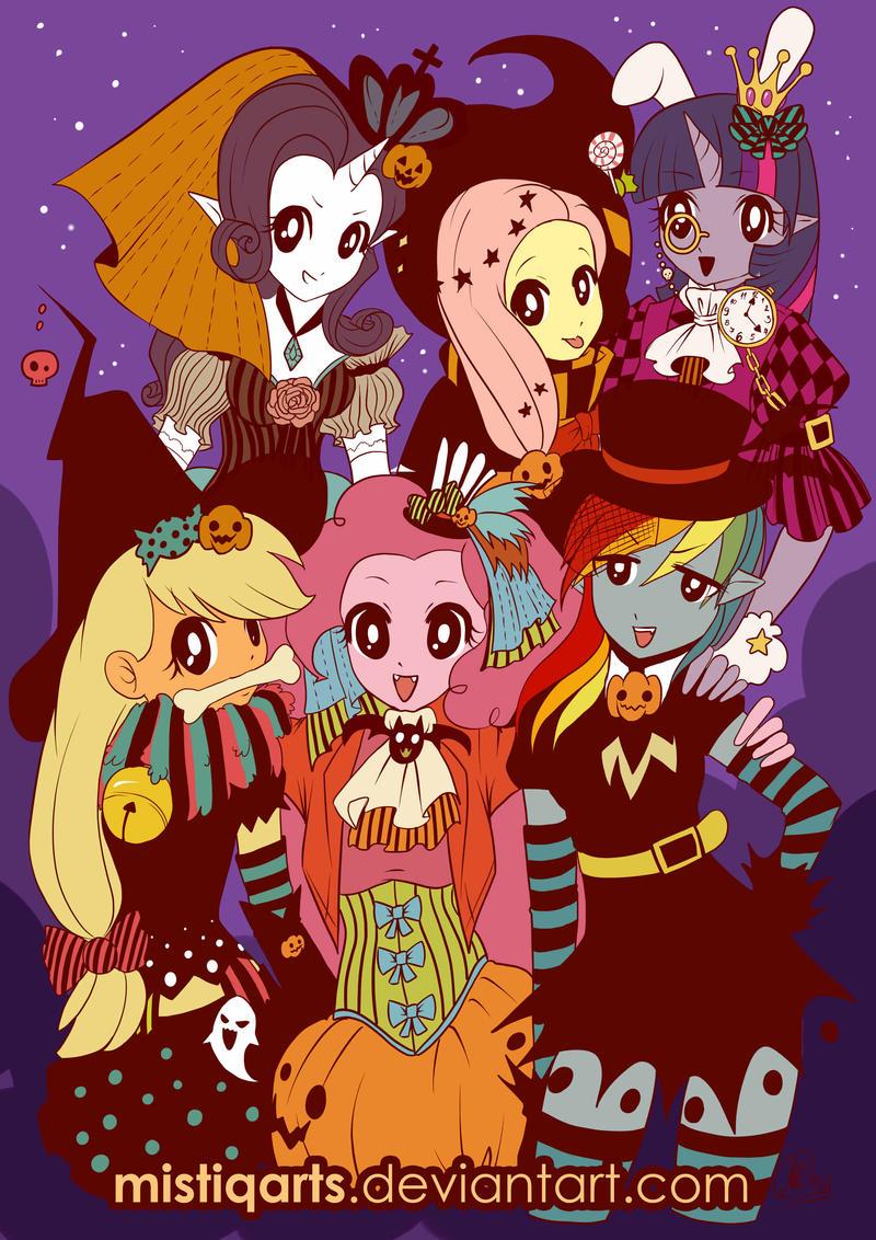 My Litle Pony Halloween by Mistiqarts