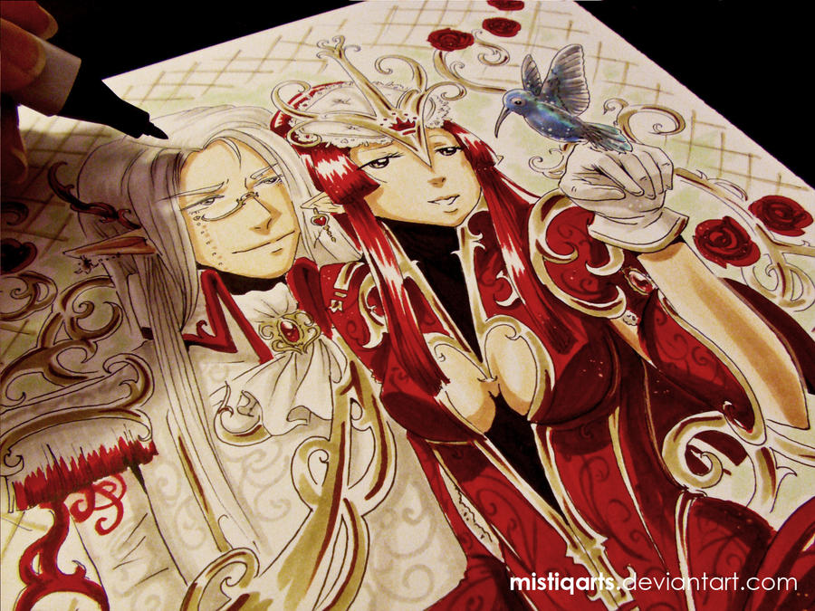 King and Queen of Hearts by Mistiqarts on DeviantArt